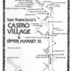 """A map of gay businesses in what was then called the """"Castro Village"""""""
